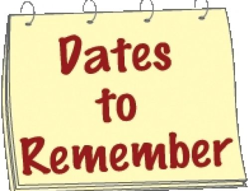 2019-20 Dates to Remember