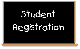 Student Registration written on blackboard